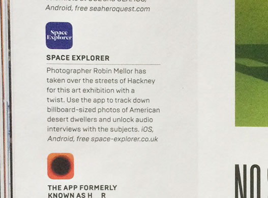 WIRED Magazine – App of the Month: Space Explorer! | Robin Mellor ...